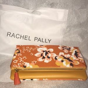 New Rachel Pally Orange Floral Reversible Clutch
